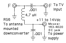 DC power up coax schematic
